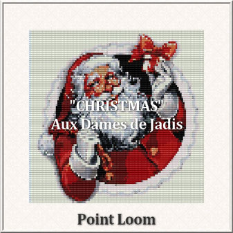 christmas-noël-père noël-picture-pattern-tapis-tapestry-miyuki-delica-seed beads-DIY-peyote-loom-even count-instant downlaod-auxdamesdejadis.com