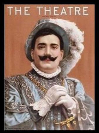 マントヴァ公爵の扮装。このポスターは、20世紀初頭に活躍したエンリコ・カルーソーのマントヴァ公爵です。(ウィキペディア)