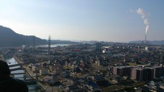 裏山から見える街並み