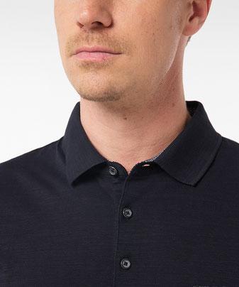 Polo-Shirt aus Silky Cotton schwarz bei Deinem sunny.schlangen in Grevenbroich #schwarz #black #organic # organiccotton