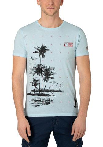 Palm T-Shirt bleu bei #Männermode #Schlangen in Grevenbroich #festival #summer #rock #surfin #beach