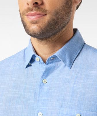 Pierre Cardin Hemd in Leinen Optik bleu #men #fashion #männermode #grevenbroich