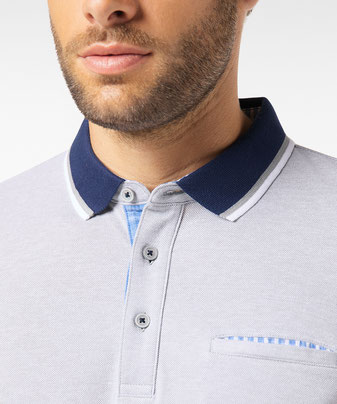 Pierre Cardin Bicolor Polo Shirt grau bei sunny.schlangen - Dein Concept Store in Grevenbroich