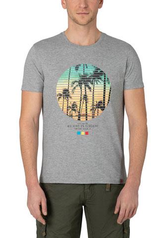 Walking on Sunshine T-Shirt grau bei #Männermode #Schlangen in Grevenbroich #festival #summer #rock #surfin #beach