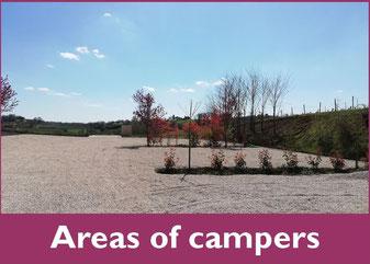 Areas of campers vic-bilh madiran