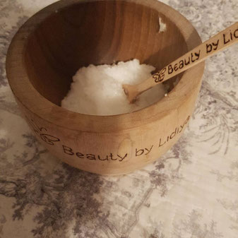 scrub body exfoliation coconut oil blend customised