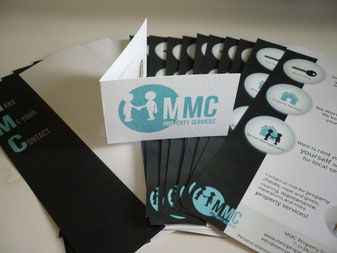 Flyers and business cards of MMC Property Services