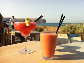 Cocktails on the beach in Javea