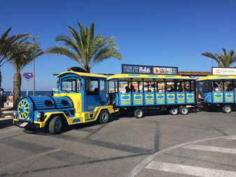 Touristic train in Javea