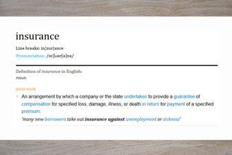 Definitie van een verzekering