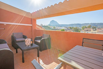 Views from the terrace in Atico Milan, Javea
