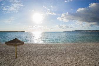 Playa en el puerto de Javea