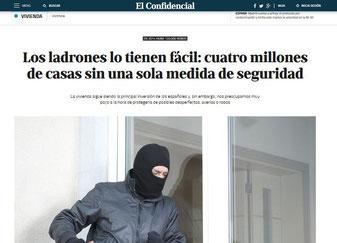 Articulo en el periódico sobre muchas casas sin medidas de seguridad