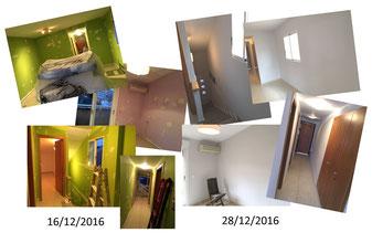 Trabajos de pintura antes y despues