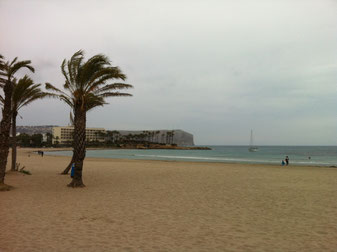 The Arenal beach in Javea