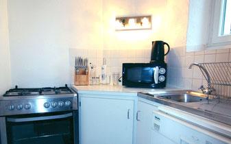 Le coin cuisine du Gîte De Giron à Giron dans l'Ain