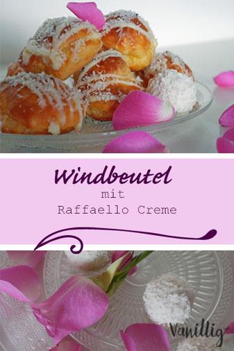 windbeutel, Raffaello, Raffaello creme, Dessert, Nachtisch, Rezept, Creme