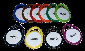 RFID Schlüsselanhänger Mifare Keys Token EM4200 Hitag Tropfen Rund Classic Evolution