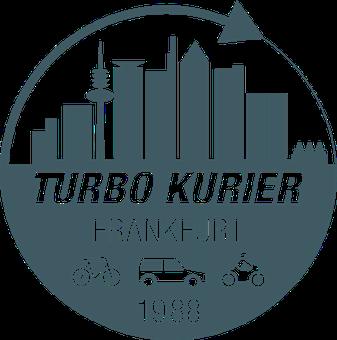 Turbo Kurierdienst rundes Logo 30 Jahre 1988