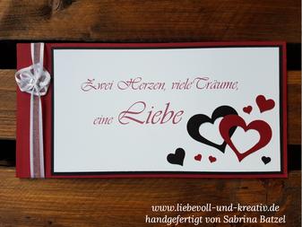 Einladungskarte zur Hochzeit, Hochzeitseinladung, Hochzeitspapeterie, Rot, Schwarz, Weiß