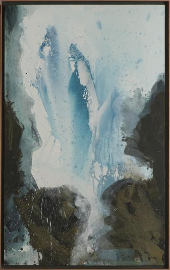 Fliessen - Acryl auf Leinwand, 2007 (105x65)