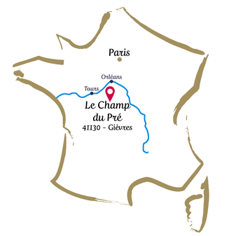 Le Champ du Pré - Chambre d'hôtes Sologne Val de Loire - Nous situer