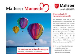fundwort hat das Konzept, die inhaltliche Gliederung und die Texte für die Malteser Momente erstellt