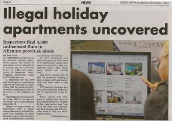 Krantenartikel over hoe belangrijk het is om uw verhuur accommodatie te registreren