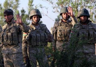 Kurdisk-irakiske peshmergas danner en forsvarsring 50 km fra hovedstaden Erbil