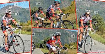 Philippe, Alex, Morgan et Thierry dans le col des Roustants
