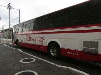 京都京阪バス=4月4日午前8時17分、OICバスロータリー(茨木市)