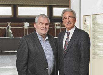 Jugendkulturwerkstatt Stadtlohn - Prof. Dr. Heinrich Greving (Vorstandsvorsitzender) und Karl-Heinz Levers (Geschäftsführer)