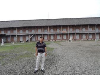 富岡製糸場にて、ちょっと疲れてます