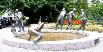 Der Geldbrunnen in Aachen  ( Foto Stadtführung Aachen Martina Fey )