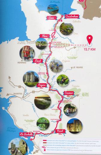 Die Route entlang der Mayenne nach Norden begeistert.