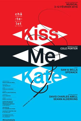 kiss me kate, théâtre du châtelet, paris, comédie musicale, affiche, spectacle