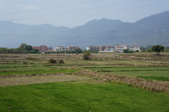Jimei, ein Vorort Xiamens. Hier der Blick auf die Stadtgrenze.