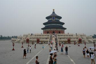 Der Himmelstempel in Peking, Historische Stätte in einer alten Großstadt.