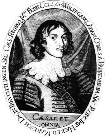 Porträt des jungen Pappenheim, den v. d. Goltz im Duell getötet hat.