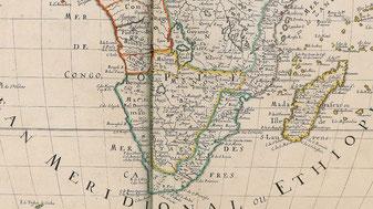 Costa Cafra o Cafreria Orientale - 1650