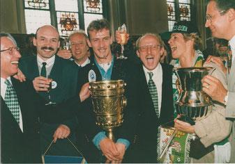 Empfang im Bremer Rathaus nach E-Cupgewinn mit Walle Bremen   Foto: Privat
