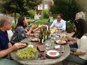 Table d'hôtes, déjeuner vigneron, cave vignoble