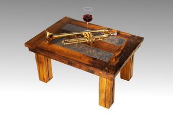 Beistelltisch, Kamin Tisch aus wiederverwendetem Holz