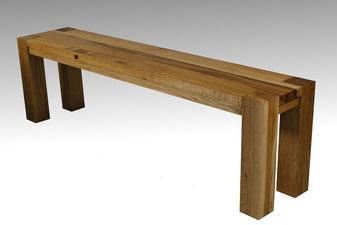 Sitzbank aus Altholz Eiche für Wohnzimmertisch und Esstisch