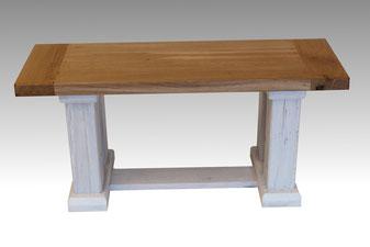 Sitzbank im Landhausstil alte Eiche weiß