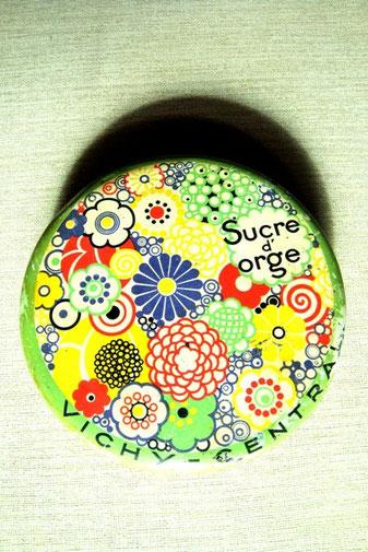 boîte Sucre d'orge VIchy central vintage