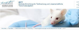 Mit einem neuen Internet-Auftritt stellt die Uni ihre Einrichtung für Tierversuche vor.