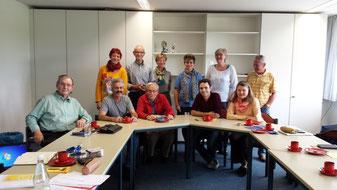Von links: Hans Dosch, Birgit Schmidl, Michael Schanz, Axel Markwardt, Walter Filser, Aenne Markwardt, Anke Liebsch, Matteo Dolce, Rosi Weber, Brigitte Commes, Herbert Fischer