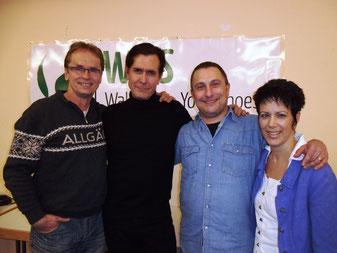 von links J.Schröder, J.Culp und Ch.Assel-Begründer von WIYS, D.Harbauer