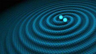 Veranschaulichung der Wirkung einer Gravitationswelle.  Foto: Dr. Walter Winkler